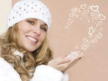 Beautiful valentine woman Royalty Free Stock Photos