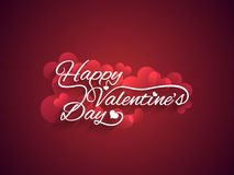 Beautiful valentines day text design on maroon col Royalty Free Stock Image