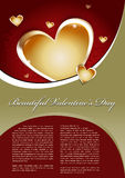 Beautiful Valentines Day Vector Background Royalty Free Stock Photo