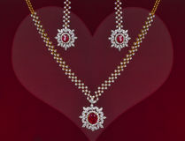 Beautiful Valentines Gift of a Jewelry Set Stock Photos