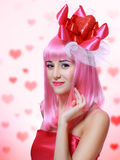 Beautiful Valentines woman Stock Image