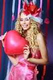Beautiful Valentines woman Stock Photography