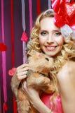 Beautiful Valentines woman Royalty Free Stock Photo