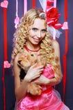 Beautiful Valentines woman Stock Image