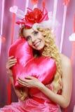 Beautiful Valentines woman Stock Photo