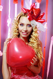 Beautiful Valentines woman Stock Images