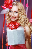 Beautiful Valentines woman Royalty Free Stock Photography