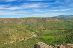 Beautiful valley of Agua Fria National Monument. Royalty Free Stock Image