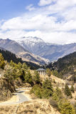 Beautiful valley in Bhutan Stock Image