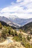 Beautiful valley in Bhutan Stock Image