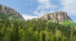 Beautiful valley in the Caucasus mountains Stock Photo