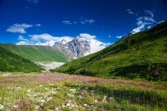 Beautiful valley in Caucasus mountains in Upper Svaneti Stock Photo