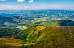 Beautiful valley in countryside view from hillside Stock Photos