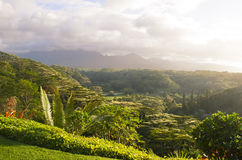Beautiful valley on Kauai island, Hawaii Stock Photo