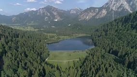 Beautiful Valley Lake View Aerial 4k stock footage