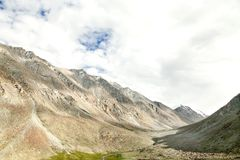 Beautiful Valley and mountain carved by glaciers in Ladakh Royalty Free Stock Photos