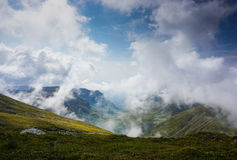 Beautiful valley in the mountains of Romania Stock Photo