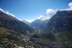 Beautiful valley in Nepal Royalty Free Stock Image