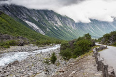 Beautiful valley, Troll Route, Norway Royalty Free Stock Photography