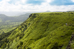 Beautiful valley view. A beautiful valley view from the mountain top Stock Photo