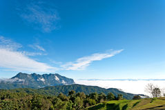 Beautiful Valley a view of Chiang Dao mountain, Thailand Royalty Free Stock Photos