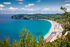 Beautiful Valtos beach near Parga town in Greece. Stock Image