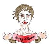 Beautiful vampire Stock Image