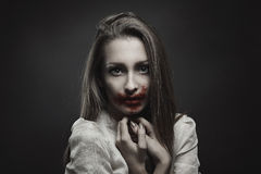 Beautiful vampire with innocent eyes Stock Photography