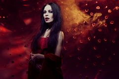 Beautiful vampire woman Royalty Free Stock Photography