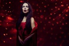 Beautiful vampire woman Stock Photos