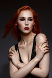 Beautiful vampire young woman Royalty Free Stock Image