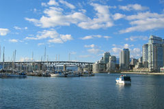Beautiful Vancouver. View of downtown Vancouver on a sunny day Royalty Free Stock Photos