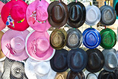 The beautiful varied hats Stock Images