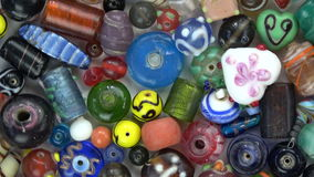 Beautiful various  indian beads from India rotating background stock footage