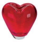 Beautiful vase. Form of hearts on white Royalty Free Stock Image
