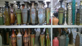 Beautiful vase  on shelves selling Royalty Free Stock Photos