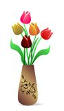Beautiful vase with tulips Royalty Free Stock Photography