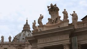 Beautiful Vatican buildings in he city of Rome. Videoclip stock video footage