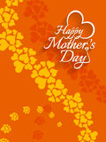 Beautiful vector background design for Mother's day. Royalty Free Stock Photo