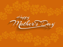 Beautiful vector background design for Mother's day. Stock Photos