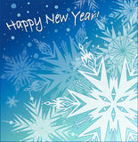 Beautiful vector background with snowflakes Royalty Free Stock Photos