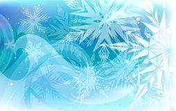 Beautiful vector background with snowflakes Royalty Free Stock Photo