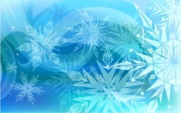 Beautiful vector background with snowflakes Stock Photos
