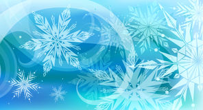 Beautiful vector background with snowflakes Royalty Free Stock Photography
