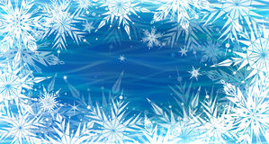 Beautiful vector background with snowflakes Stock Image