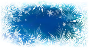 Beautiful vector background with snowflakes Royalty Free Stock Images