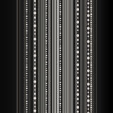 Beautiful vector background with stripes and bead Royalty Free Stock Photos