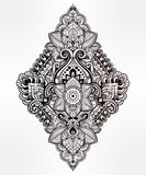 Beautiful vector bohemian floral paisley ornament. Royalty Free Stock Images