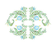 Beautiful vector border with flowers in vintage style. Stock Photography