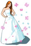 Beautiful vector bride Royalty Free Stock Image